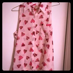 Sheer Pink Heart Blouse